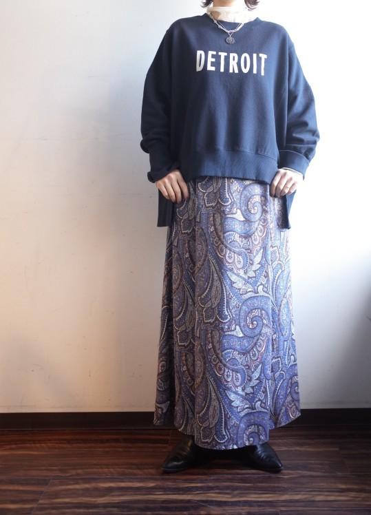 QUINOA BOUTIQUE◆裏毛プリントBIG SWEAT◆_e0269968_14011635.jpg