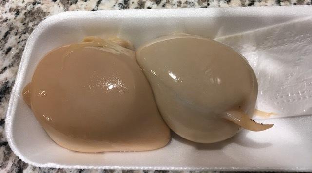 久しぶりに料理するーミル貝の肝ソテー、ブロッコリーサラダ_e0350971_08525157.jpg