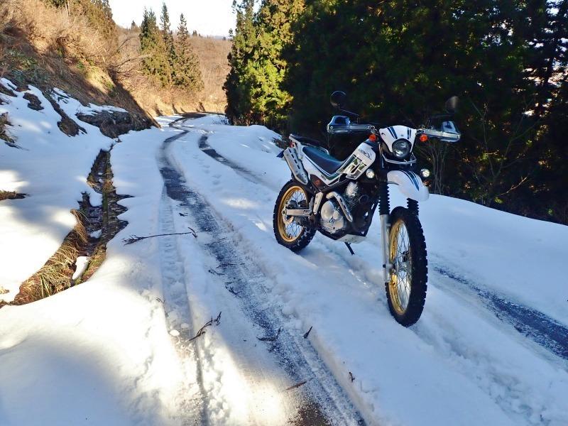 真冬だけどセローで林道へ登ってみました!_c0336902_20475301.jpg
