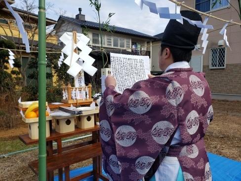 つくばみらい市、市内にて地鎮祭を執り行いました_a0059217_14415891.jpg