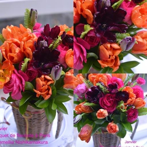 1月パリのお花屋さんレッスン_d0078355_11552325.jpg