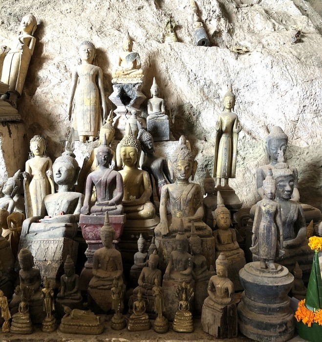 """ラオスの旅 17 絶壁の洞窟 """"パークウー洞窟""""@メコン川クルーズ_a0092659_15585794.jpg"""