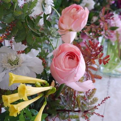 オークリーフ花の教室(山田さんの作品)_f0049672_19090073.jpg