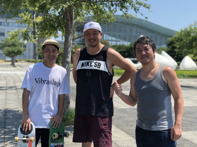 舞浜のスケートパークで再会_e0230090_20363435.jpeg