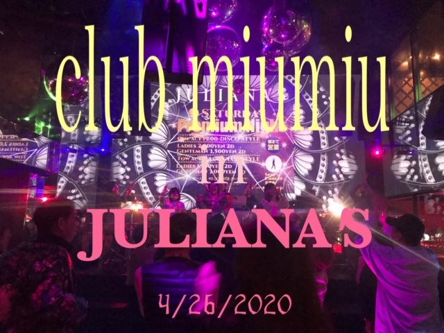 club miumiu in JULIANA'S 4/26 開催~!_a0050302_01161930.jpg