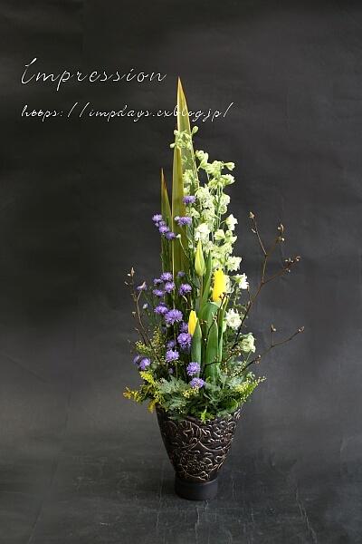 定期装花から 孔雀アスター:八重パープル_a0085317_16560677.jpg