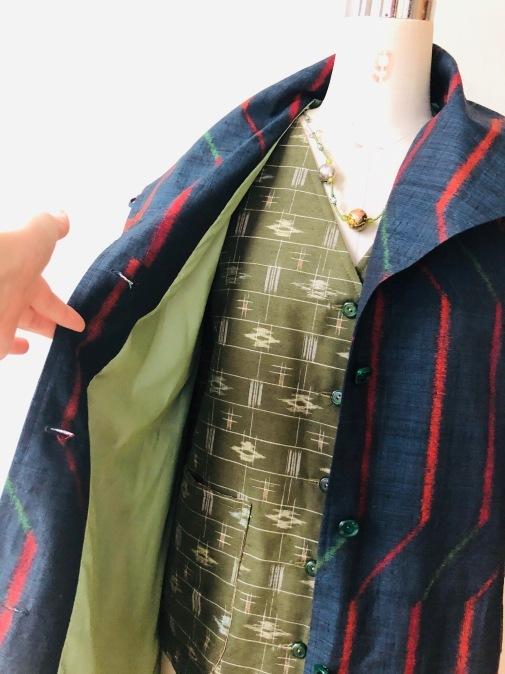 着物着物リメイク・絣からコート_d0127925_10041560.jpg