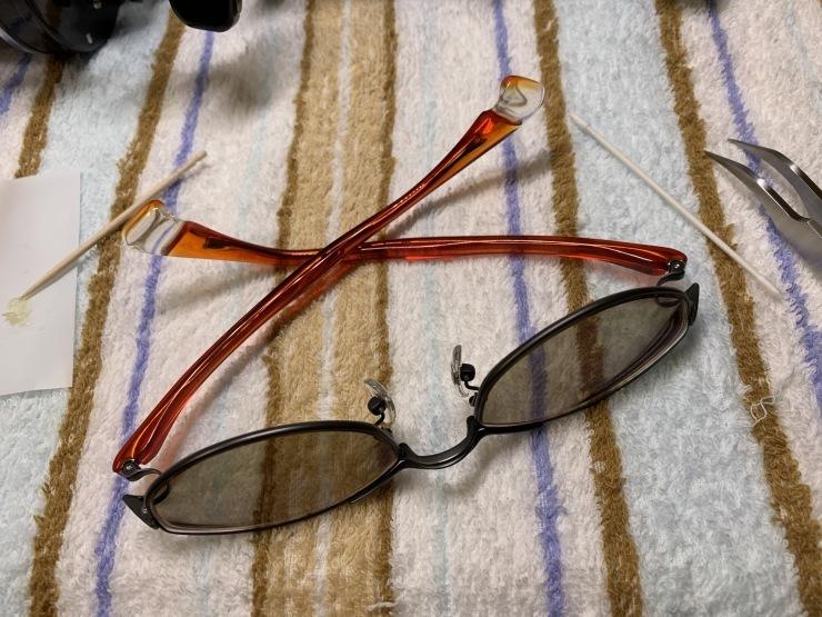 16年使ったメガネフレームを磨く!_f0103126_19194929.jpg