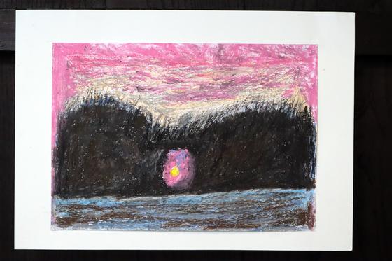 クレパス画 ~ 月島 ~_e0222340_1443479.jpg