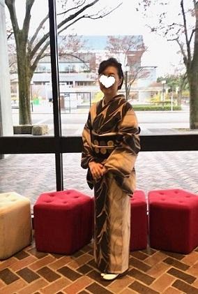 野田さんコンサート&ご来店のお客様・縞の着物に長羽織。_f0181251_18525257.jpg