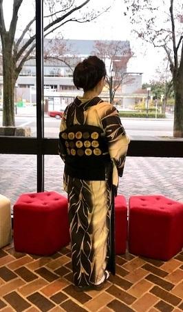 野田さんコンサート&ご来店のお客様・縞の着物に長羽織。_f0181251_18533589.jpg