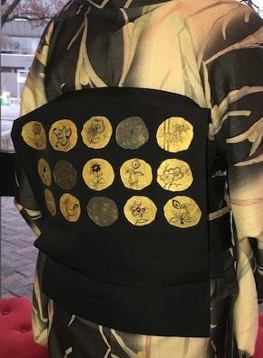 野田さんコンサート&ご来店のお客様・縞の着物に長羽織。_f0181251_18543955.jpg