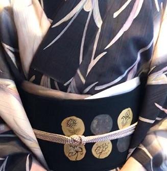 野田さんコンサート&ご来店のお客様・縞の着物に長羽織。_f0181251_18552655.jpg