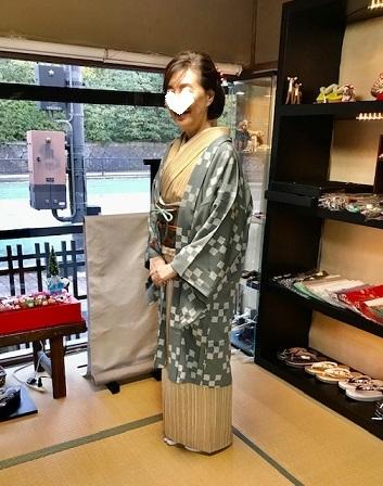 野田さんコンサート&ご来店のお客様・縞の着物に長羽織。_f0181251_19000097.jpg