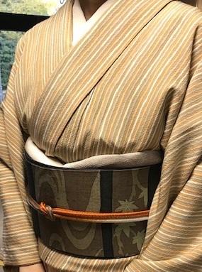 野田さんコンサート&ご来店のお客様・縞の着物に長羽織。_f0181251_19075866.jpg