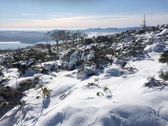 スノーシューで藻琴山、撤退。_e0405754_14464091.jpg