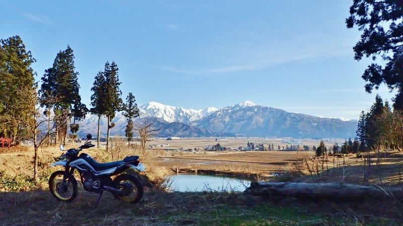 真冬にセローでフットパスしてみました!_c0336902_21133449.jpg