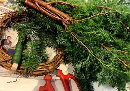 クリスマス・リース教室_d0248537_15285636.jpg