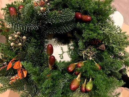 クリスマス・リース教室_d0248537_15290769.jpg