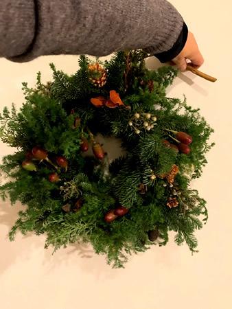 クリスマス・リース教室_d0248537_15292073.jpg
