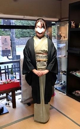 素敵な羽織姿でご来店のお客様・藤井絞、兎羽織新入荷。_f0181251_17143600.jpg