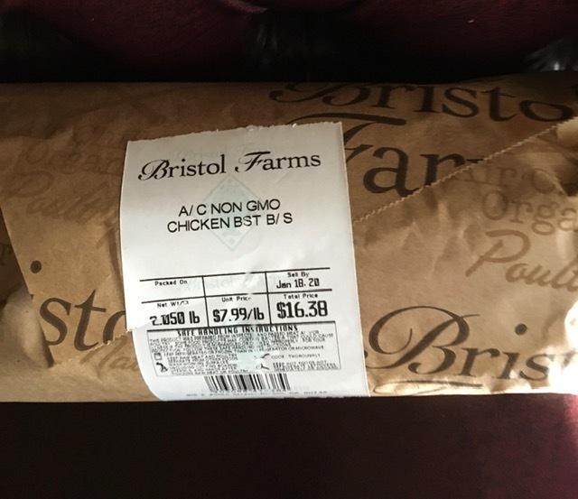 Bristol Farmsでゲットしたタダのものープロシュット、ロブスタービスク等々_e0350971_11381762.jpg