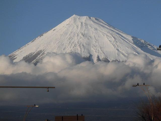 前日に続き晴天・雪化粧の富士山_f0141310_07590648.jpg