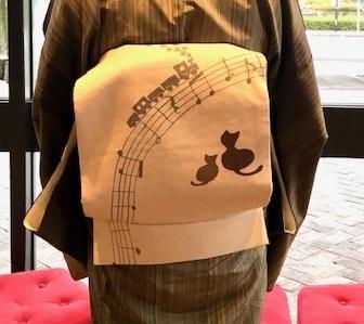 野田さんコンサート・縞着物に音符や猫の帯・楽器帯入荷。_f0181251_17552114.jpg