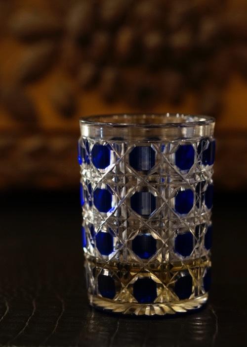 Baccarat Blue Diamond Cut Tumbler_c0108595_23501164.jpeg