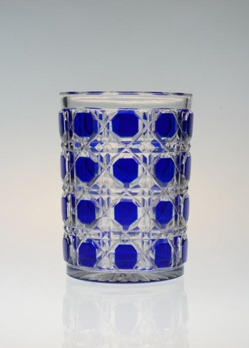 Baccarat Blue Diamond Cut Tumbler_c0108595_23501460.jpeg