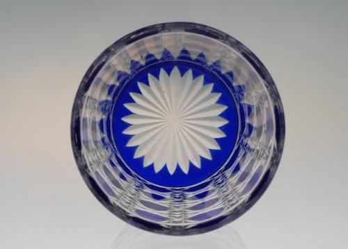 Baccarat Blue Diamond Cut Tumbler_c0108595_23502250.jpeg