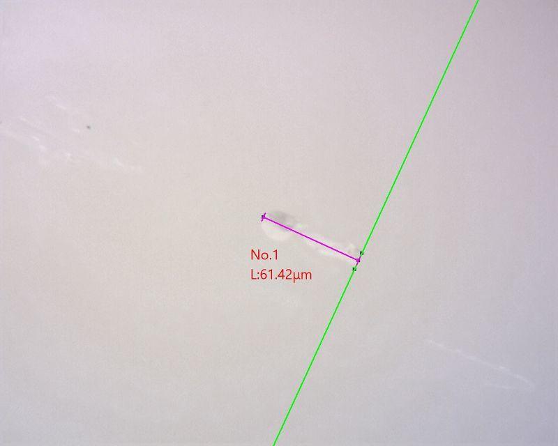【マイクロスコープの斉藤光学です】セラミックス部分のキズを観察しました_c0164695_15164139.jpg