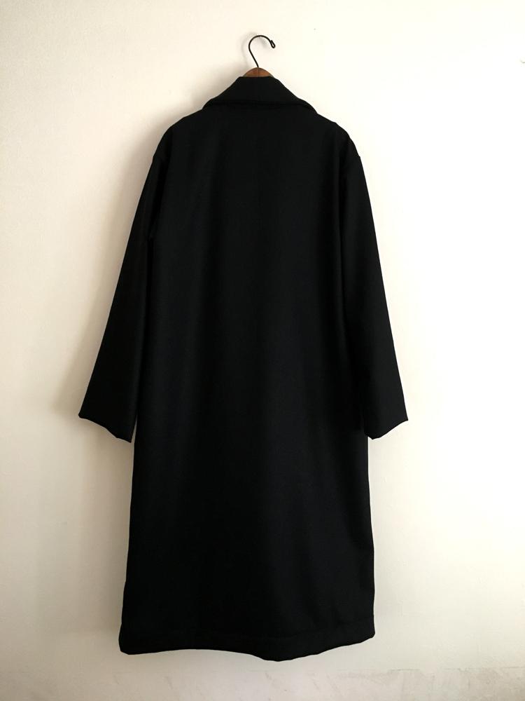 ウール生地の黒いロングコート (フルオーダー)_b0199696_13191529.jpg