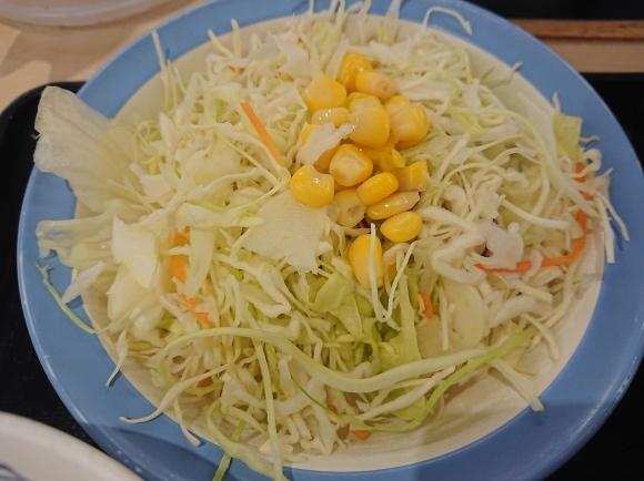 1/31 選べる小鉢の玉子かけごはんミニ牛皿ライスミニ、生野菜サラダ @松屋_b0042308_06413163.jpg