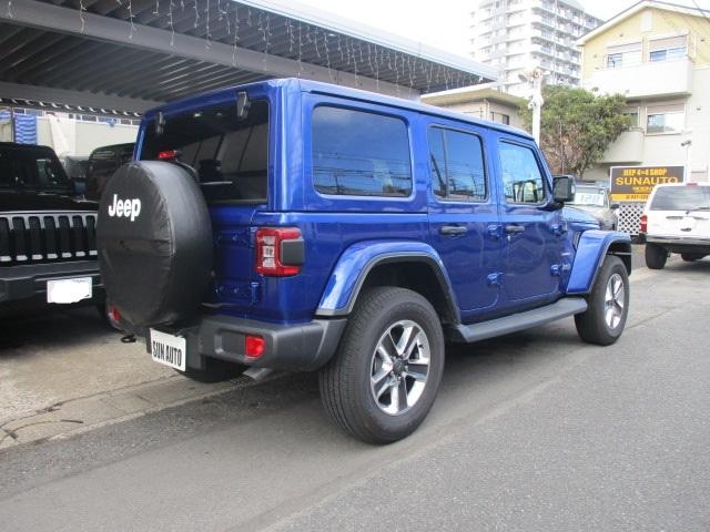 新古車 JL ラングラー アンリミテッド サハラ レザー オーシャンブルー_b0123820_12002652.jpg