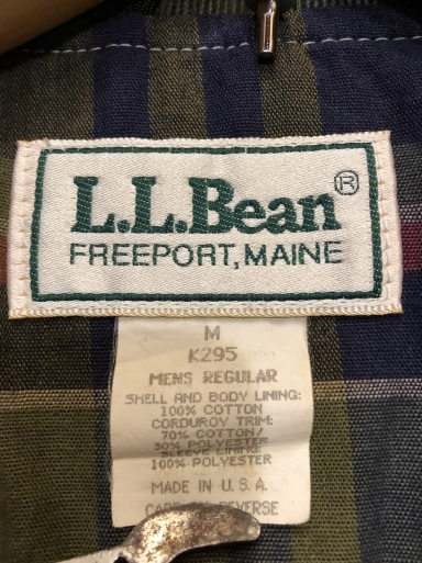 2月1日(土)入荷!80s  MADE IN U.S.A L.L Bean Hunting Jacket !_c0144020_13165085.jpg
