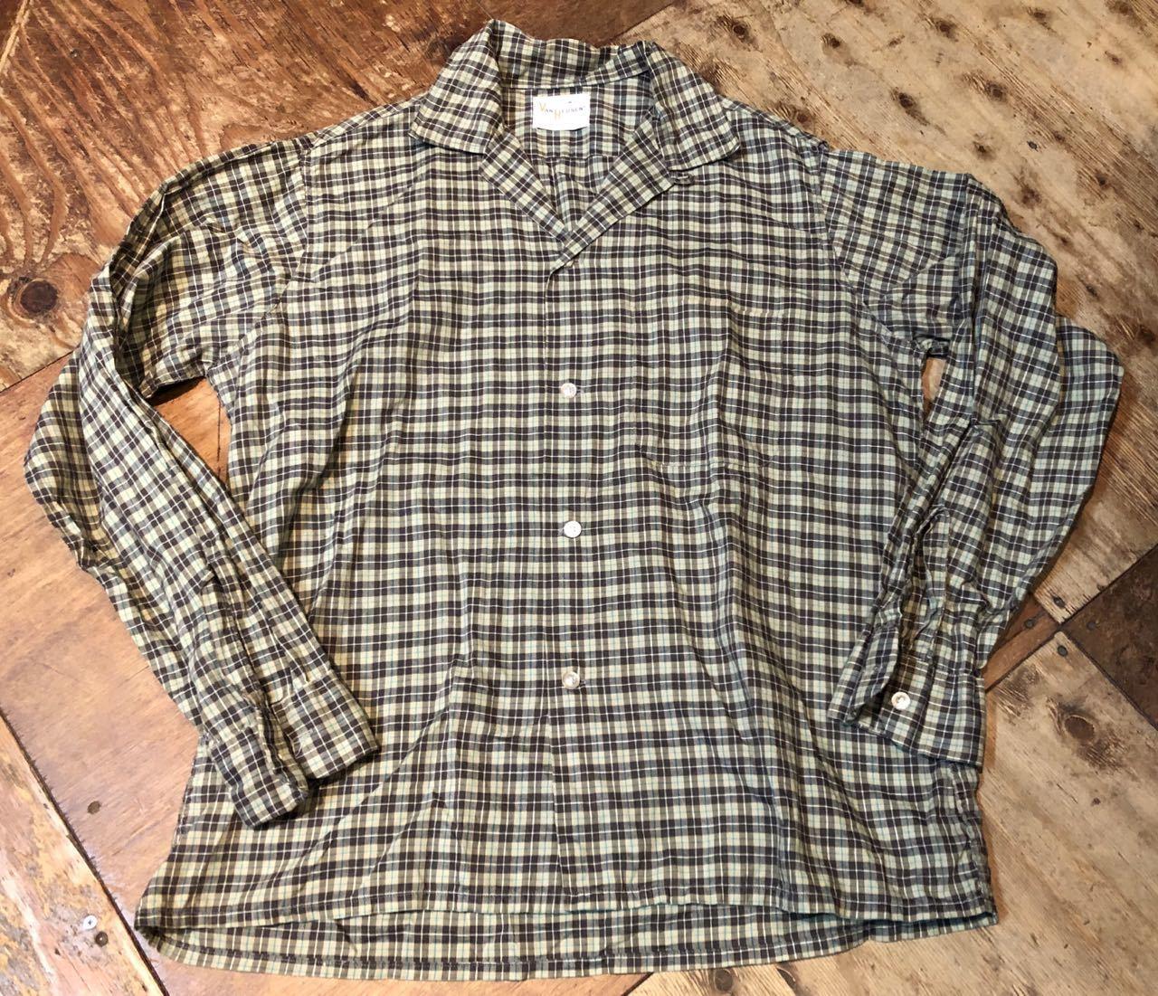 2月1日(土)入荷!60s!VAN HEUSEN  vintage all cotton オープンカラーシャツ! _c0144020_13193498.jpg