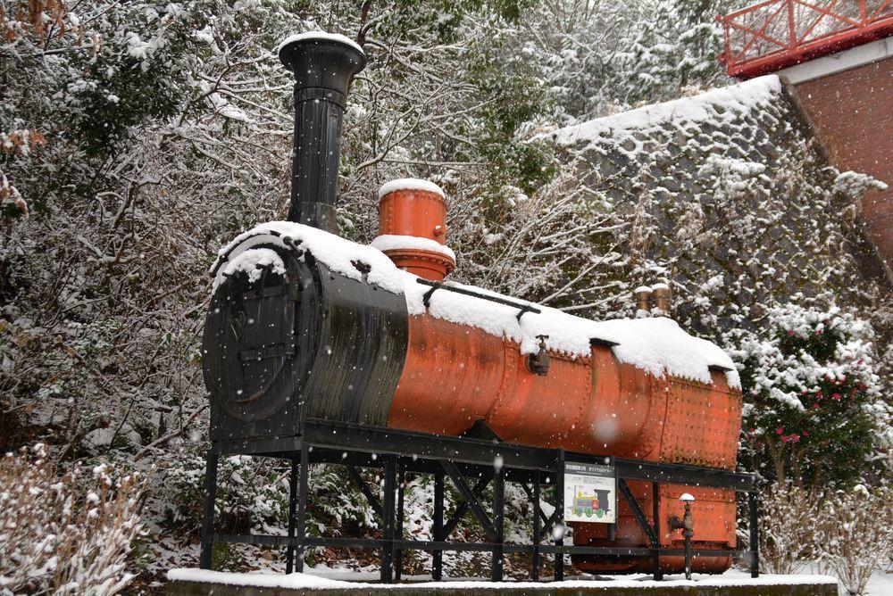 雪景色 2018年末 12号機関車ボイラ_e0373930_19454731.jpg