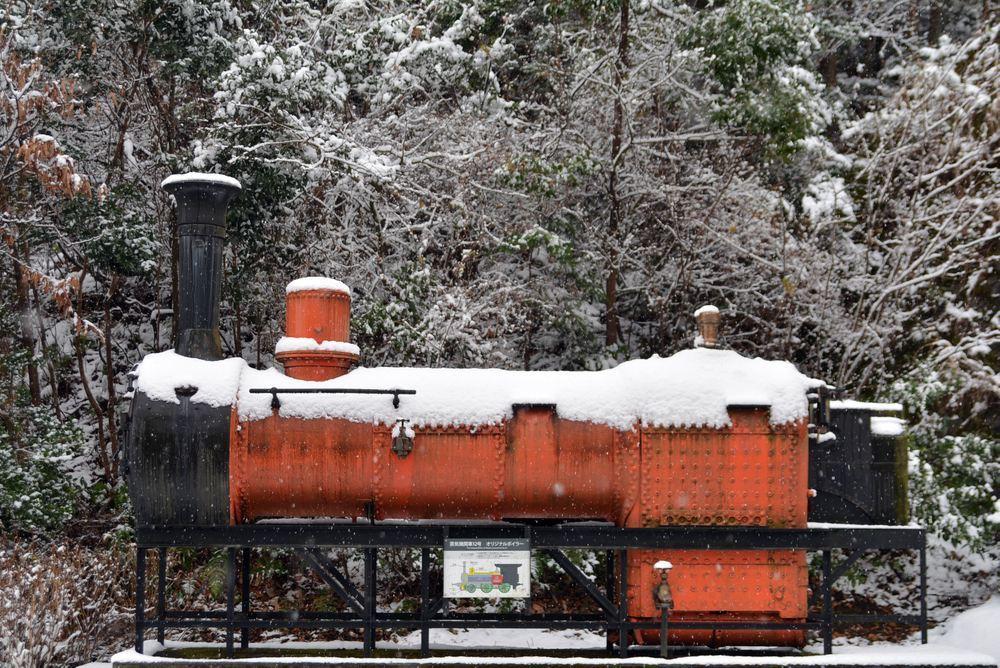 雪景色 2018年末 12号機関車ボイラ_e0373930_19454749.jpg