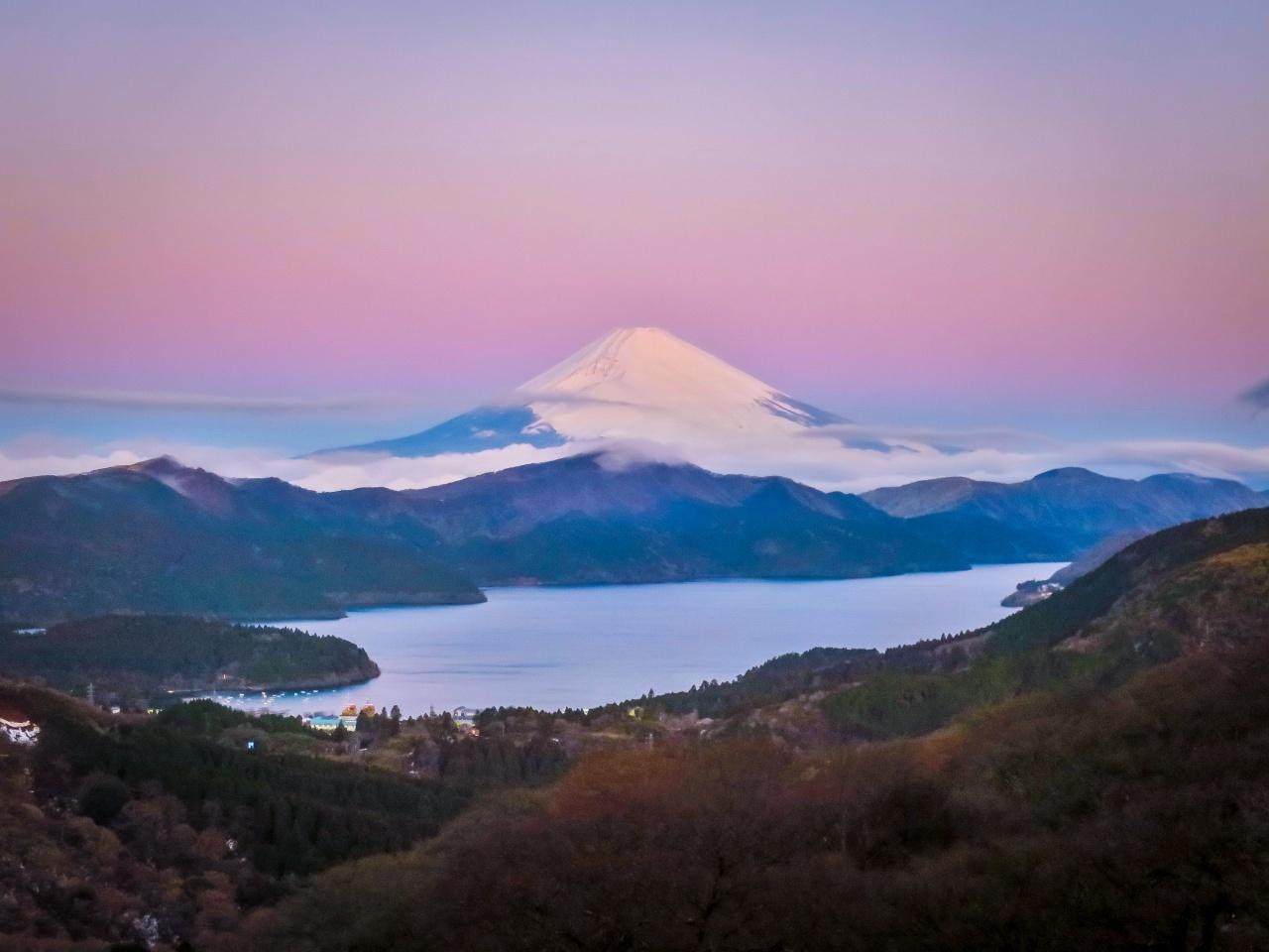 2020.1.30早朝の富士山と芦ノ湖(大観山)_e0321032_09530797.jpg
