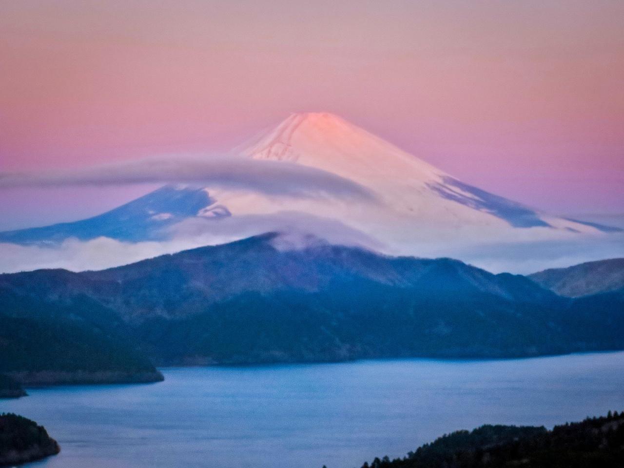 2020.1.30早朝の富士山と芦ノ湖(大観山)_e0321032_09534341.jpg