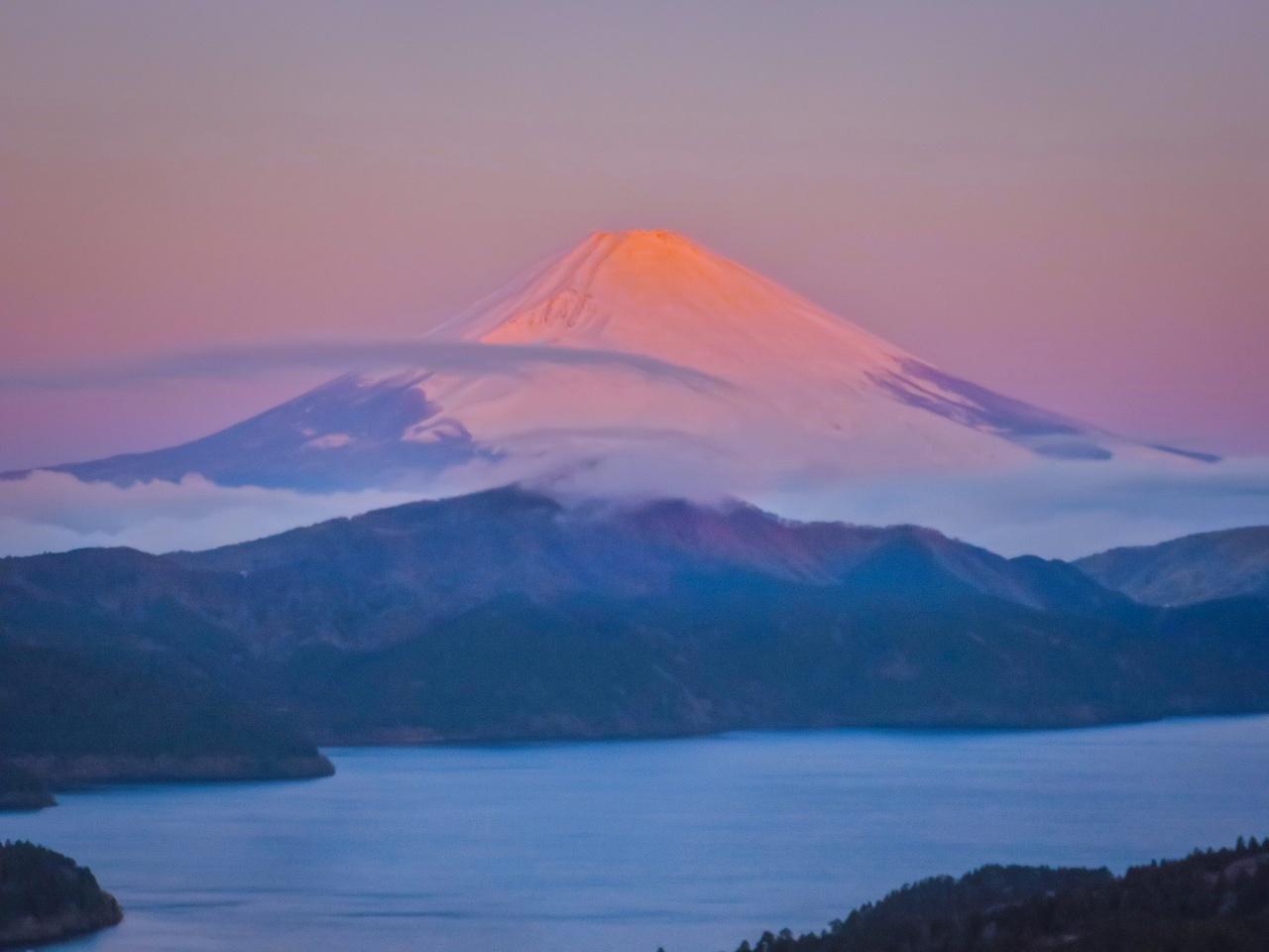 2020.1.30早朝の富士山と芦ノ湖(大観山)_e0321032_09541498.jpg