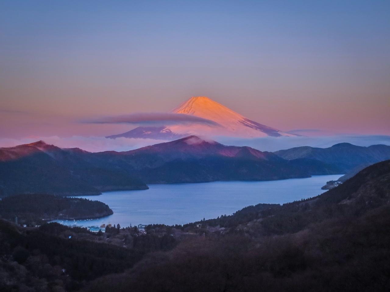 2020.1.30早朝の富士山と芦ノ湖(大観山)_e0321032_09544036.jpg