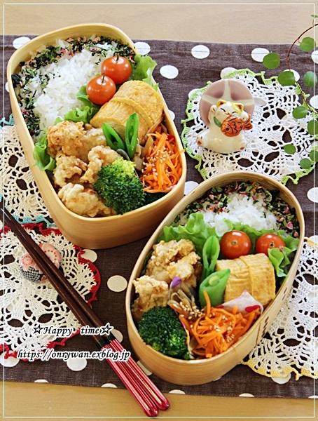 クリスピーチキン風弁当と角食♪_f0348032_16435187.jpg