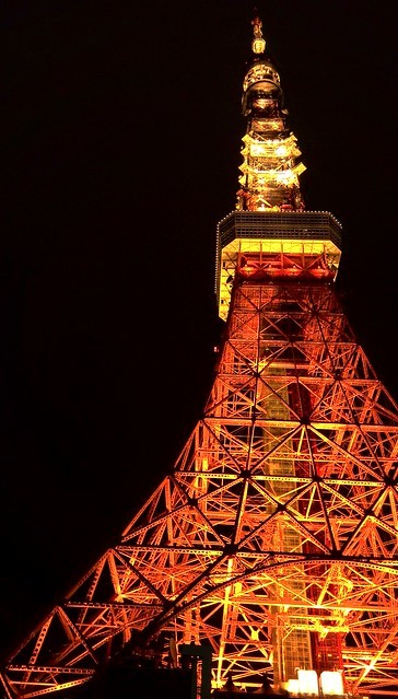 夜の東京タワーを下から撮影。「STREAM X」レビュー_c0060143_13570953.jpg