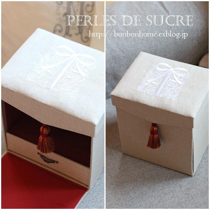 自宅レッスン 紅茶入れの箱 リモコンスタンド コスメスタンド シャポースタイルの箱_f0199750_20443982.jpg