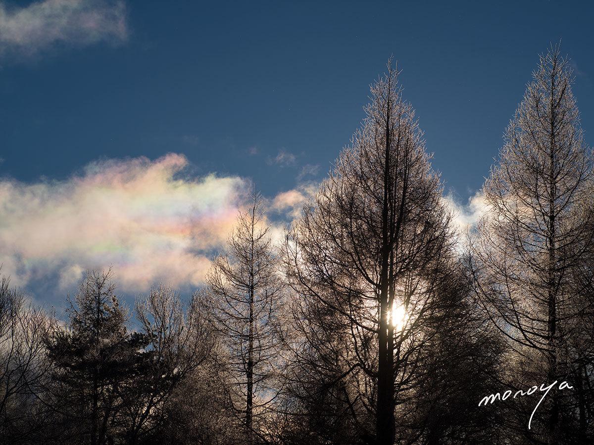 彩雲と霧氷_c0085877_06162463.jpg