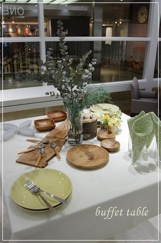 ビュッフェスタイルのパーティーテーブル   ~基本クラス _d0217944_20092876.jpg
