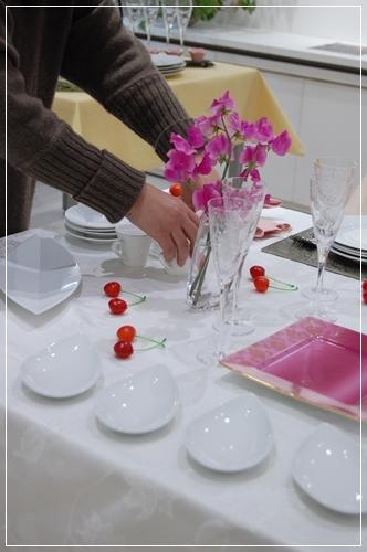 ビュッフェスタイルのパーティーテーブル   ~基本クラス _d0217944_20094221.jpg