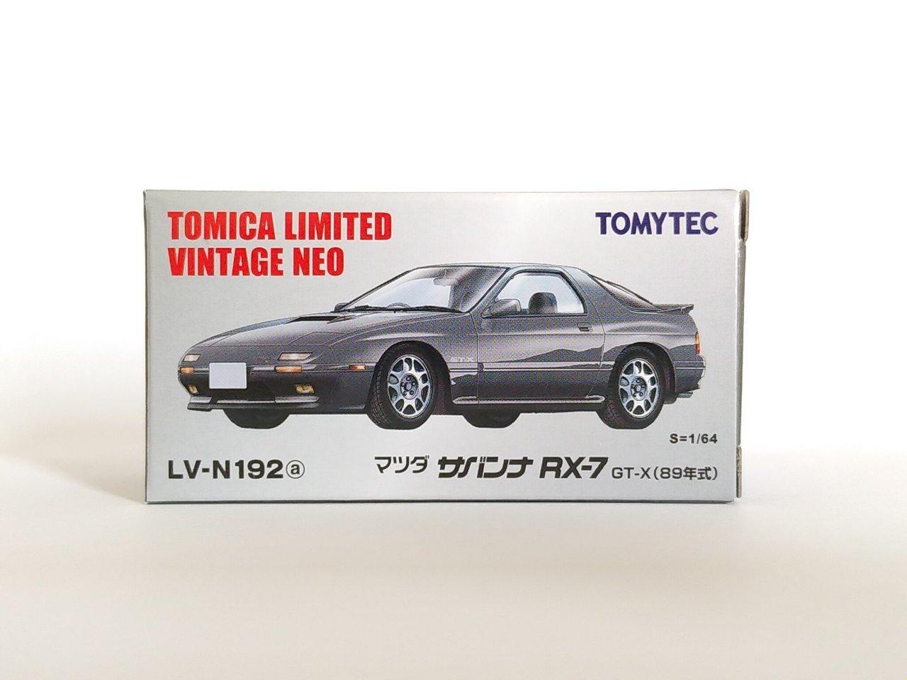 Tomica Limited Vintage Neo 1//64 LV-N192a Mazda Savanna RX-7 GT-X 89 gray F//S